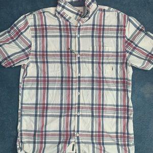Plaid button down T-Shirt